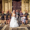 Gruppenfoto mit dem Brautpaar
