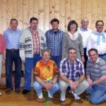 Geehrte Vereinsmitglieder beim Saisonabschlussgrillfest der TSG Eintracht - Tischtennisabteilung