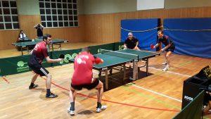 Eröffnungsdoppel im Spiel Plankstadt 2 - Edingen-Neckarhausen 2