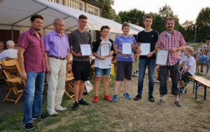 v.l. Markus Kolb, Richard Wiegand, Philipp Adar, Luis Klaus, Vincent Wiest, Robin Halens und Roland Müller