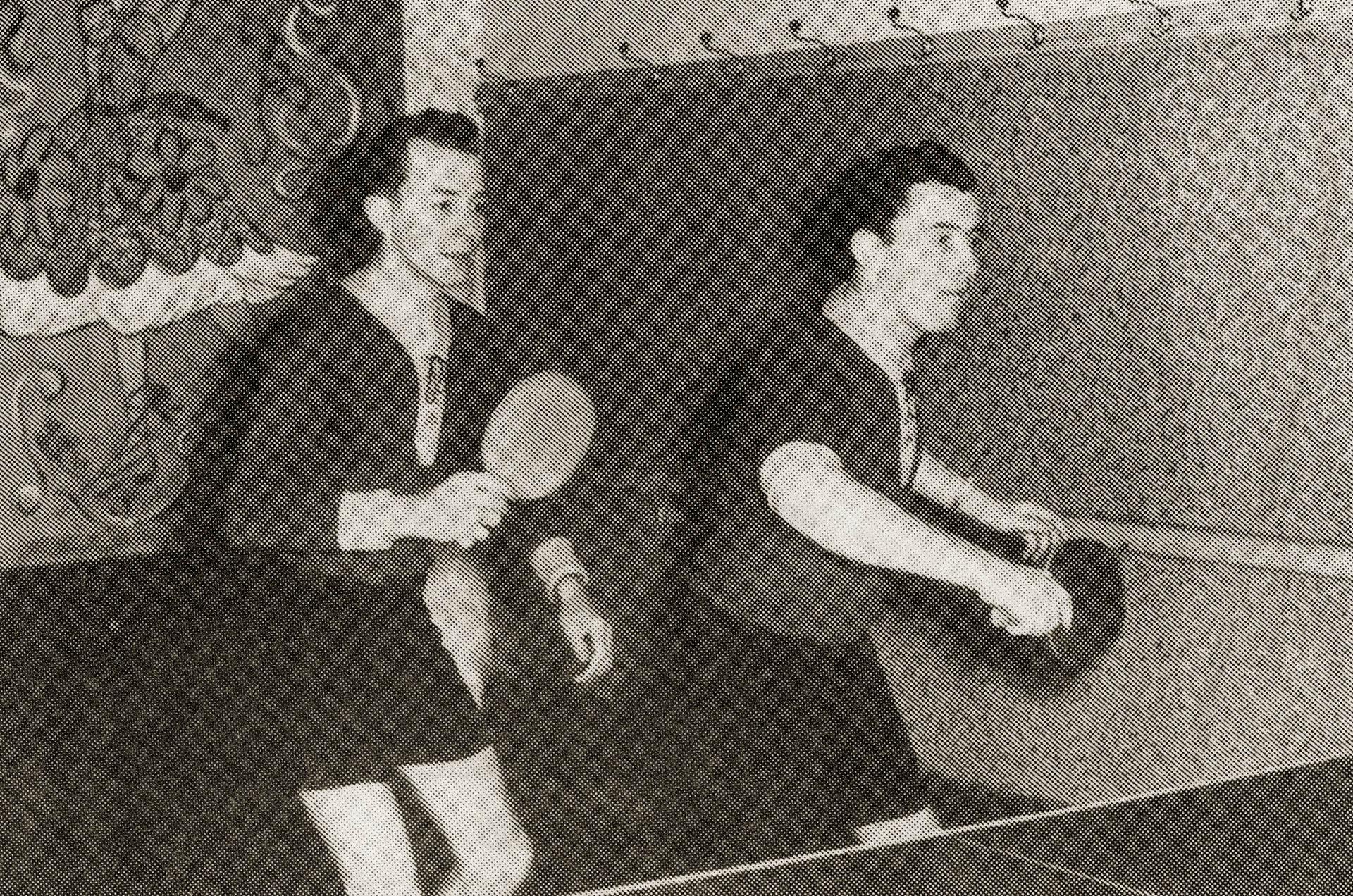 Das Doppel Heinz Hahn / Heini Seitz Anf. der 50er Jahre